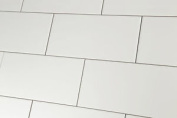 Sample Of Metro Flat White Matt Wall Tiles 10x20cm