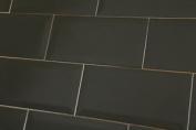 Sample Of Metro Black Matt Wall Tiles 10x20cm