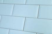 Sample Of Metro Sky Blue Wall Tiles 10x20cm