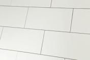 Sample Of Metro Flat White Gloss Wall Tiles 10x20cm