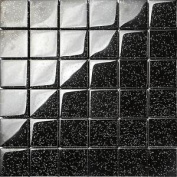 Black Glitter Glass Mosaic Wall Tiles Bathroom Shower Spashback Sheet Mt0088