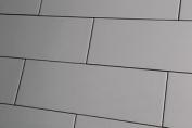 Sample Of Metro Xl Flat Graphite Grey Gloss Wall Tiles 10x30cm