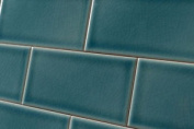 Sample Of Crackle Glaze Greenwich Park Subway Wall Tiles 7.5x15cm