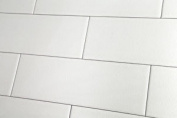 Sample Of Crackle Glaze White Chapel Xl Wall Tile 10x30cm