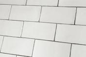 Sample Of Crackle Glaze White Gloss Vintage Wall Tiles 7.5x15cm