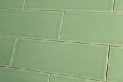 Sample Of Crackle Glaze Hyde Park Green Xl Wall Tiles 10x30cm
