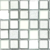 Silver Mirror Foil Mix Glass Bathroom And Kitchen Mosaic Tiles Sample Mt0046