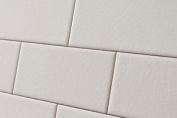 Sample Of Crackle Glaze White Chapel Subway Wall Tiles 7.5x15cm
