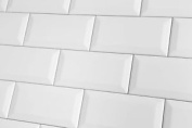 Sample Of Mini Metro White Matt Wall Tiles 7.5x15cm