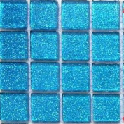 Mosaic Tiles Glass Glitter Blue Bathroom Kitchen Walls Borders Sample