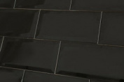 Sample Of Metro Black Wall Tiles 10x20cm