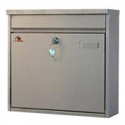 Home Design Hdm-800 Inox Silver Modern Stainless Steel Mailbox