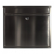 Stainless Steel Silver Apartment Mailbox Rottner Hochhaus Ii