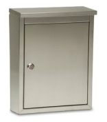 Regent Locking Wall Mount Mailbox, Letterbox, Postbox Stainless Steel