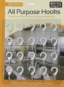 Cup Hook Durable Plastic Hanging Screw Hanger Home Office Caravan Wall Decor