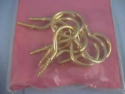 Cup Hook Brass Plated 38mm, Pack Qty