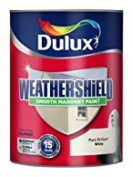 Dulux Weather Shield Smooth Masonry Paint Rainproof Uv Resistant - 2.5 L - White