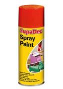 Supadec Multi-purpose Bright Red Spray Paint 400ml - Hard Wearing Finish