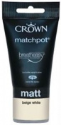 Crown Breatheasy Matchpot Tester Pot Beige White Matt Paint With Applicator 40ml