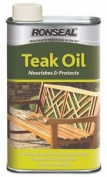 Ronseal Garden Hardwood Furniture Care Clear Teak Oil Protector 500ml