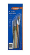 6 X Lynwood Artists Brushes Pure Bristles Hobbies And Crafts