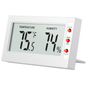 AMIR Indoor Digital Thermometer Hygrometer,Mini Temperature and Humidity Monitor - Instant-Read Big LCD Display, °C/°F Switchable with MIN/MAX Records - Perfect for Home, Car, Etc.