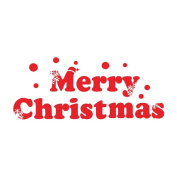 Ivenf Merry Christmas Window Wall Decal Decoration, Removable Vinyl Sticker
