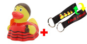 SET - LILALU® RUBBER DUCK + #WORLD Duck Lanyard | Fairytales | Animals | Multicultural | Various colours and designs, LILALU:Flamenco dancer duck / 1974