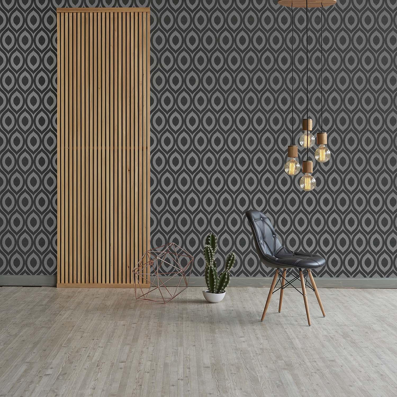 3d Geometric Wallpaper Modern Linen Sheen Effect Luxury Rimini By CWV Wallcoverings LTD