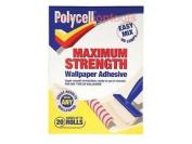 Polycell Plcmswpa20r Maximum Strength Wallpaper Adhesive 20 Roll