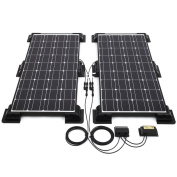 Biard 200w Black Solar Panel Corner/side Mounting 20a Charge Controller 5m Cable