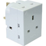 Dencon 13a, 3 Way Multiplug Fused 13a To Bs1363/3