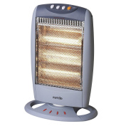 Warmlite 1200w 3 Bar Portable Oscillating Electrical Home Halogen Heater Grey