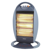 New Igenix Ig9512 Oscillating Portable Bar Quartz Halogen Heater 1200 W - Grey