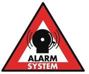Konig Sticker Alarm System 123 X 148 Mm