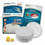 8x Nemaxx Mini-fl2 Smoke Detector - High Quality & Discreet Mini Smoke Detector