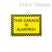This Garage Is Alarmed Sign