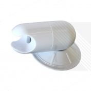 Adjustable White Shower Head Holder | Wall Mount Suction Bracket | No Drilling!!