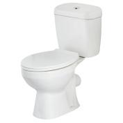 Modern White Close Coupled Bathroom Toilet Wc Pan Dual Push Button Flush Cistern