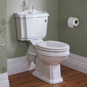 Traditional Belmont Close Coupled Bathroom Wc Toilet Pan Cistern With Wood Seat