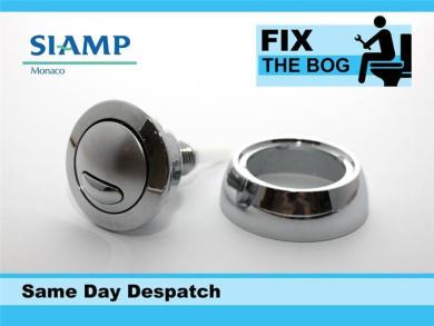 Siamp Optima 49 Toilet Push Button Dual Flush Water Saving Chrome Homebase