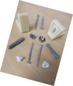 Bathroom Angled Pan Floor Fixing Kit Wc Toilet Fitting - Back To Wall Close Coup