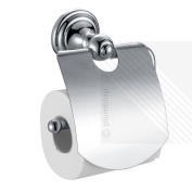 Traditional Bathroom Toilet Roll Holder With Cover | Chrome And Wall Mounted