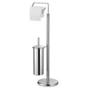 Bonsoni Chrome Toilet Brush And Roll Holder By Protege Homeware