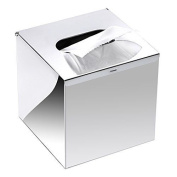 Btsky New . Brushed Stainless Steel Cube Square Tissue Holder Box Hotel