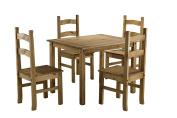 Birlea Corona Dining Set With 4 Chairs - Waxed Pine