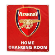 Arsenal Fc Official Home Changing Room Metal Bedroom Sign
