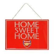 Arsenal Fc Official Metal Home Sweet Home Football Crest Sign