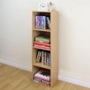 4 Tier Wooden Beech Cube Bookcase Storage Display Unit Modular Shelving/shelv