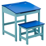 Bonsoni Childrens Blue Mdf Desk And Stool By Protege Homeware